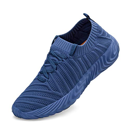ZOCAVIA Running Shoes for Women Slip On Fly Knit Tennis Walking Gym Sneakers Blue - Tennis Sneakers Blue