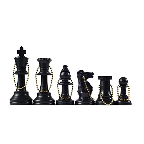 Wholesale Chess – Chess Pieces Keychain Set (Black) by