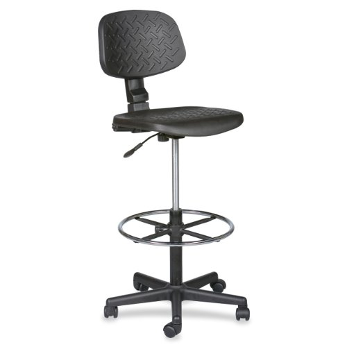 (Balt Trax Adjustable Stool, 18-1/2-Inch by 18-1/2-Inch by 37 to 47-Inch, Black)