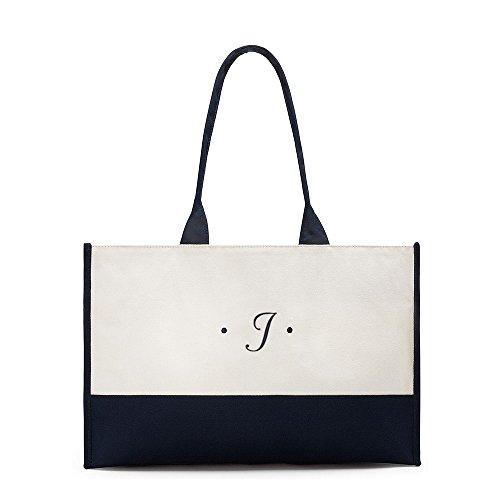La borsa di manici classica in tela della Lettera del
