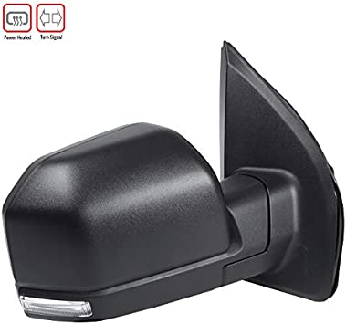 Mirror Power Heated Signal Blind Spot Textured Black Passenger Right RH for Ford