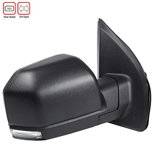 Carpartsinnovate For Ford 15-18 F-150 Power Heated Black Passenger Right Side Mirror w/LED Signal by Carpartsinnovate