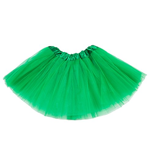 Twirling Costumes Used (belababy Girl Skirts 3 Layers Organza Baby Tutu, 2-8, Green)