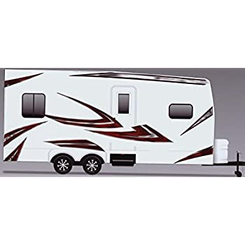 Rv trailer camper motorhome large vinyl decals graphics kit k