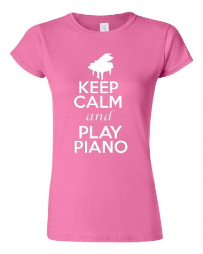 Junior Keep Calm And Play Piano T-Shirt Tee