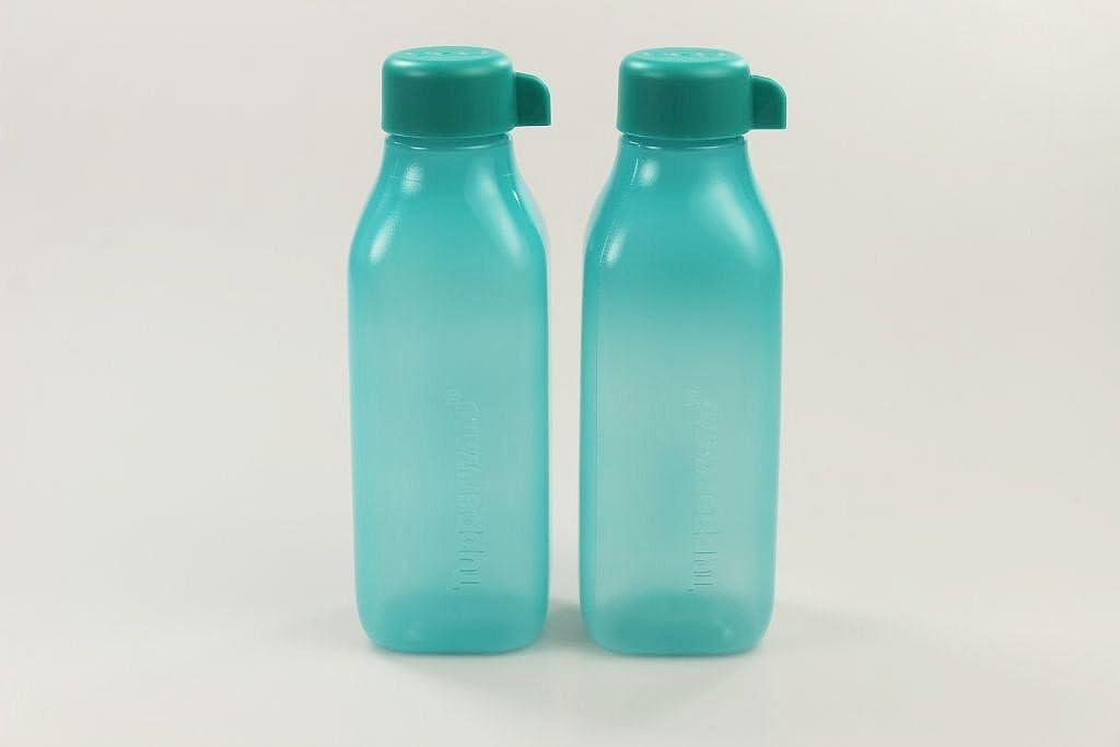 Tupperware to go Eco 500ml EcoEasy quadtratisch Botella Magnete–Color Turquesa Oscuro (2) 30441