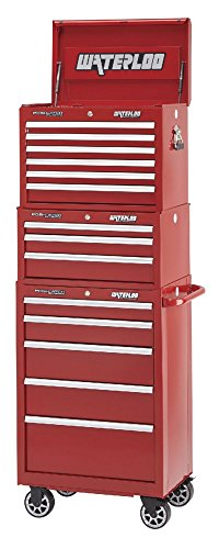 Waterloo Professional Series 5-Drawer Rolling Tool Cabinet with Internal Tubular Keyed Locking System, Red Finish, 26'' W by Waterloo (Image #3)