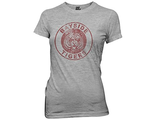 Ripple Junction Saved By The Bell Bayside Tigers Adult T-Shirt XL Heather Gray (Kelly Kapowski Saved By The Bell)