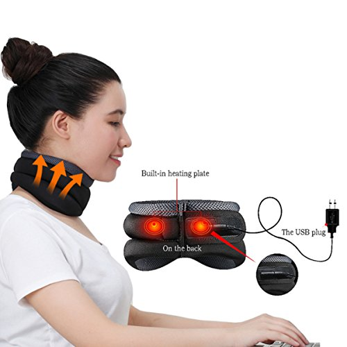 Swantis New USB Heating Neck Cervical Traction Device Collar Household Equipment Health Care Massage Device Nursing Care