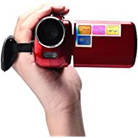 Kwok 1.8 Inch TFT 4X Digital Zoom Mini Video Camera (Kwok Photography series) (Red)