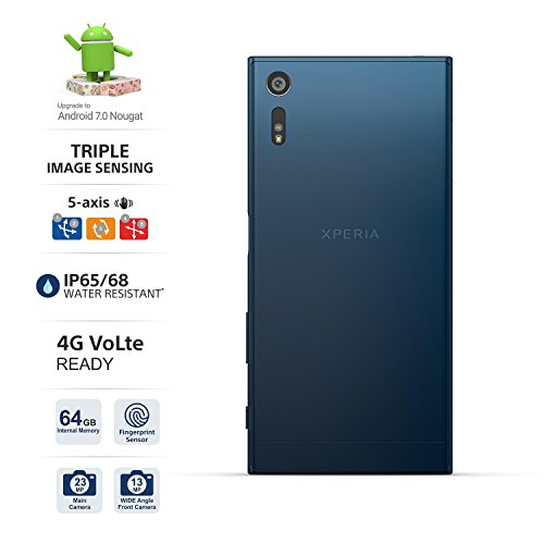 "Sony Xperia XZ F8332 64GB Forest Blue, 5.2"", Dual Sim, GSM Unlocked International Model, No Warranty"