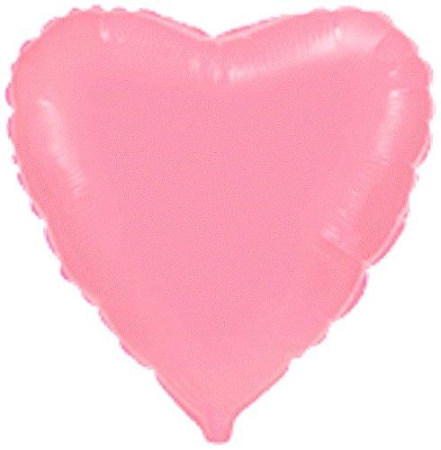 1 x Cor Pastel Pink Heart Foil Balloon 18