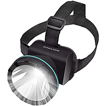 KMASHI Headlamp Flashlight Super Bright Headlight With Rechargeable Batteries 2600 Feet Lighting Distance LED