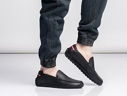 Mens Business Shoes Work Leather Black Formal HUAN Color 41 Comfort Casual 2018 New Sneakers Size Breathable Spring dtvxqwPx1