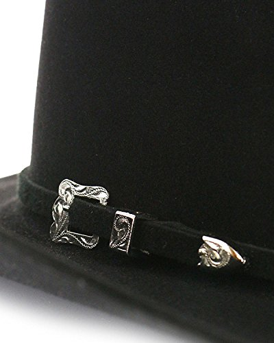 Rodeo King Men's Low 7X Felt Cowboy Hat Black 7 3/8 by RODEO KING (Image #4)
