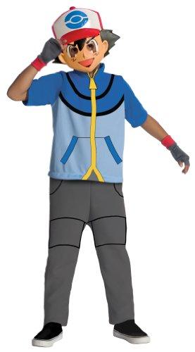 Pokemon Child's Ash Costume - One Color - Medium