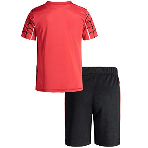 Marvel Avengers Black Panther Spiderman Hulk Boys Athletic T-Shirt & Mesh Shorts Set