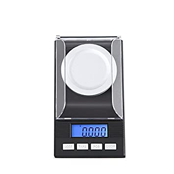 Escala de joyería Dongjinrui 50G / 0,001 g de precisión digital Báscula Electrónica de laboratorio Balanza Médica Pantalla LCD portátil Balanzas de joyería ...