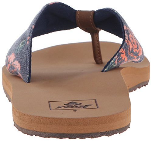 UK Reef Rose Scrunch Women's Navy Black Diamond 6 Flop Flip Tx qATq8B