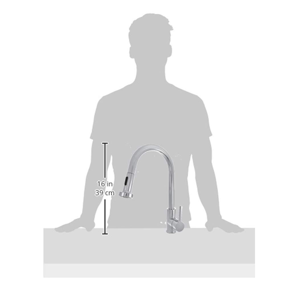 Basics cromo pulido Mezclador de grifo de cocina desplegable est/ándar