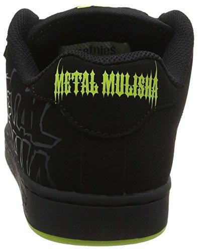 Men's Etnies Skateboarding Black Shoes Black Metal Fader Mulisha Black003 zdwqd7