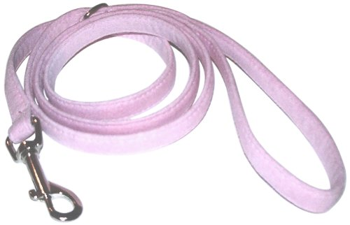 The Dog Squad Ultra Suede Pet Leash, 4-Feet, Pink