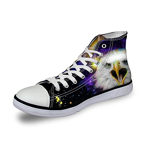 Bigcardesigns Galaxy Animale Casual Alta Cima Tela Sneakers Eagle 2
