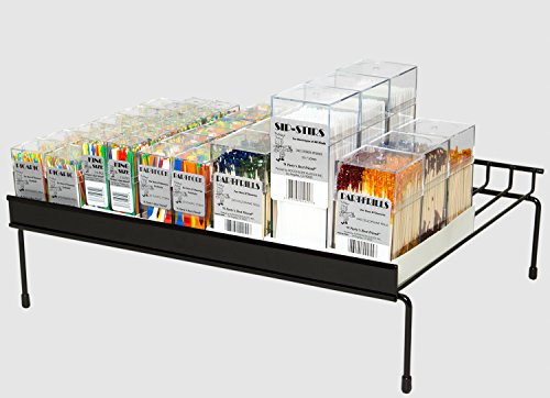 Soodhalter Party Shelf Merchandiser, 45 Piece Shelf Display Rack, Plastic Cocktail Toothpicks & Forks, Stirrer Straws, Wood Frill Picks by Soodhalter Plastics Inc.