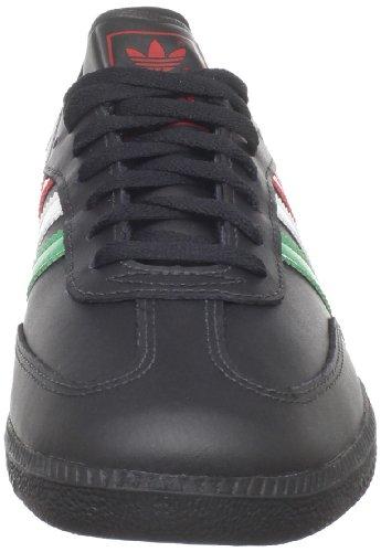 Adidas Originals Mens Samba In Pelle Retrò Sneaker Nera / Fairway / Scarlatto Luce