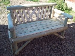Two Seat Rustic Garden Furniture Bench. NOW With A FREE Coat Of Teak Oil  Applied