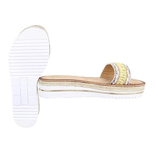 Ital-Design - zapatillas de baile (jazz y contemporáneo) Mujer amarillo