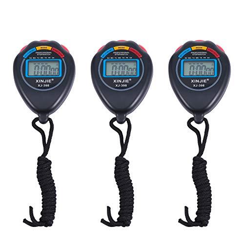 GARNECK 3 Stuks Digitale Stopwatch Timer Draagbare Wedstrijd Sport Stopwatches Training Chronometer Voor Zwemmen…