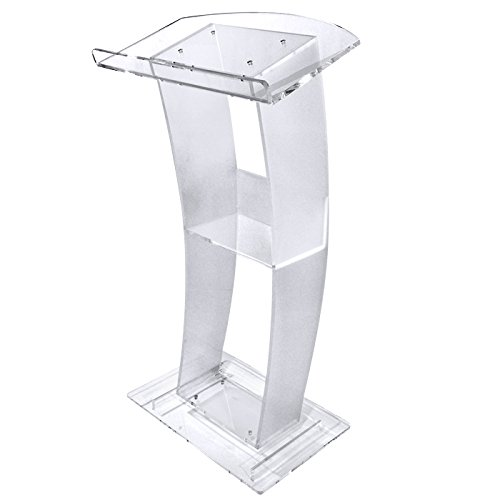 C Style Acrylic Lectern with a Frosty Finish by Kingdom, Inc.