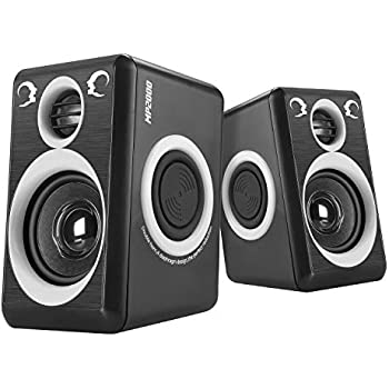 0963355df37 Computer Speakers with Surround Sound 2.0CH USB Wired Powered Multimedia  Speaker for Desktop TV PC Laptops Smart Phone RECCAZR Built-in Four  Loudspeaker ...