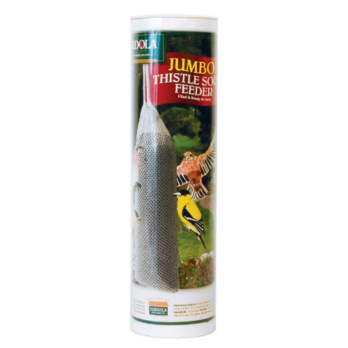 Birdola Jumbo Thistle Sock Feeder for Birds, (Jumbo Feeder)