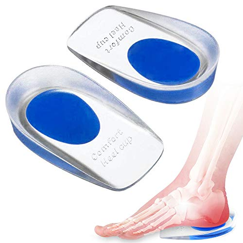 Silicone Gel Heel Cup, Shoe Inserts for Plantar Fasciitis, Heel Spurs & Heel Pain Foot Care