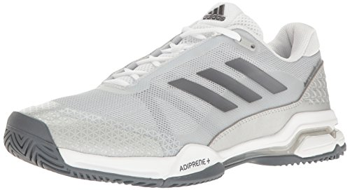adidas Men's Barricade Club Tennis Shoes, Night Metallic/Footwear White/Core Black, 9 M US