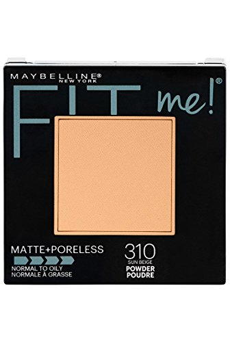 Maybelline New York Fit Me Matte + Poreless Powder Makeup, Sun Beige, 0.29 oz.