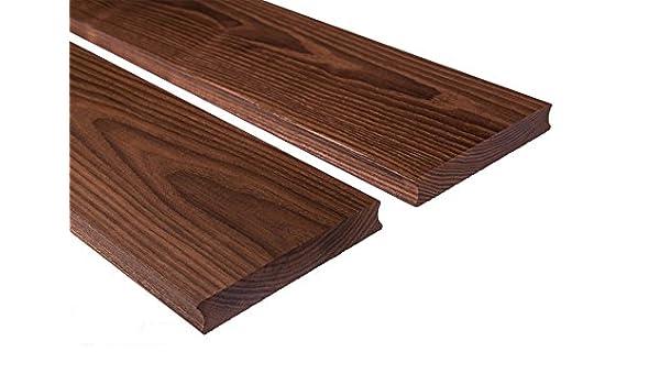 Tablones de madera de fresno para terraza, parte de visión cepillada, 20 x 112 mm: Amazon.es: Bricolaje y herramientas