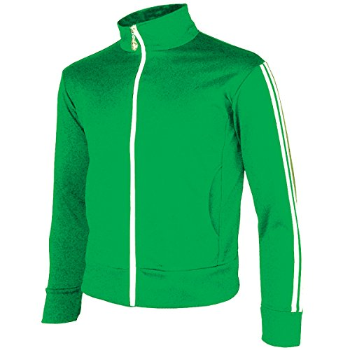 - myglory77mall Men's Running Jogging Track Suit Warm Up Jacket Gym Training Wear L US(2XL Asian Tag) Green