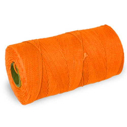 CWC Braided Mason Twine - #18 x 1100', Neon orange (Pack of 12 cones)