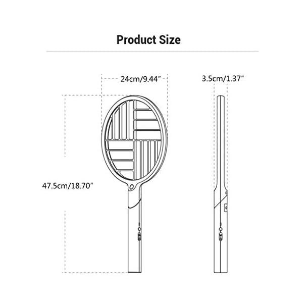 2 in 1 pieghevole elettrico Schiacciamosche 1200mAh - ricaricabile g Zapper Tennis Raet wi Safe To rete della maglia 7 spesavip