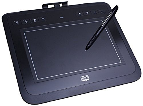 Adesso 8 x 5 Inches Wireless Graphics Tablet for PC and Mac (CyberTabletW10)