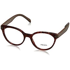 Prada PR01TV Eyeglass Frames UE01O1-51 - Spotted Brown Pink PR01TV-UE01O1-51
