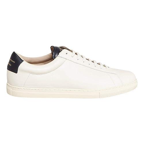 8b58070d4a9ec1 Amazon.com | ZSP4 Apla Nappa White Trainers PE19 Men | Shoes