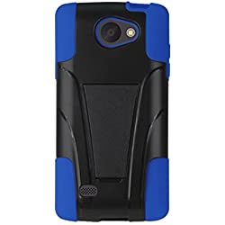 Reiko Protector Cover Cell Phone Case for LG Lancet/VW820 - Retail Packaging - Navy/Black