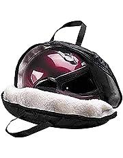 Ocobetom Hjälmväska, hjälmfodral för motorcykelhjälmar, multifunktionell vattentät bärväska för motorcykel, handbagage, hjälmväska, svart – med vit fleece inre lager