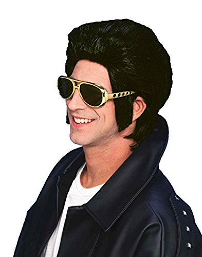 amazon com forum novelties men s 1950 s costume greaser wig black