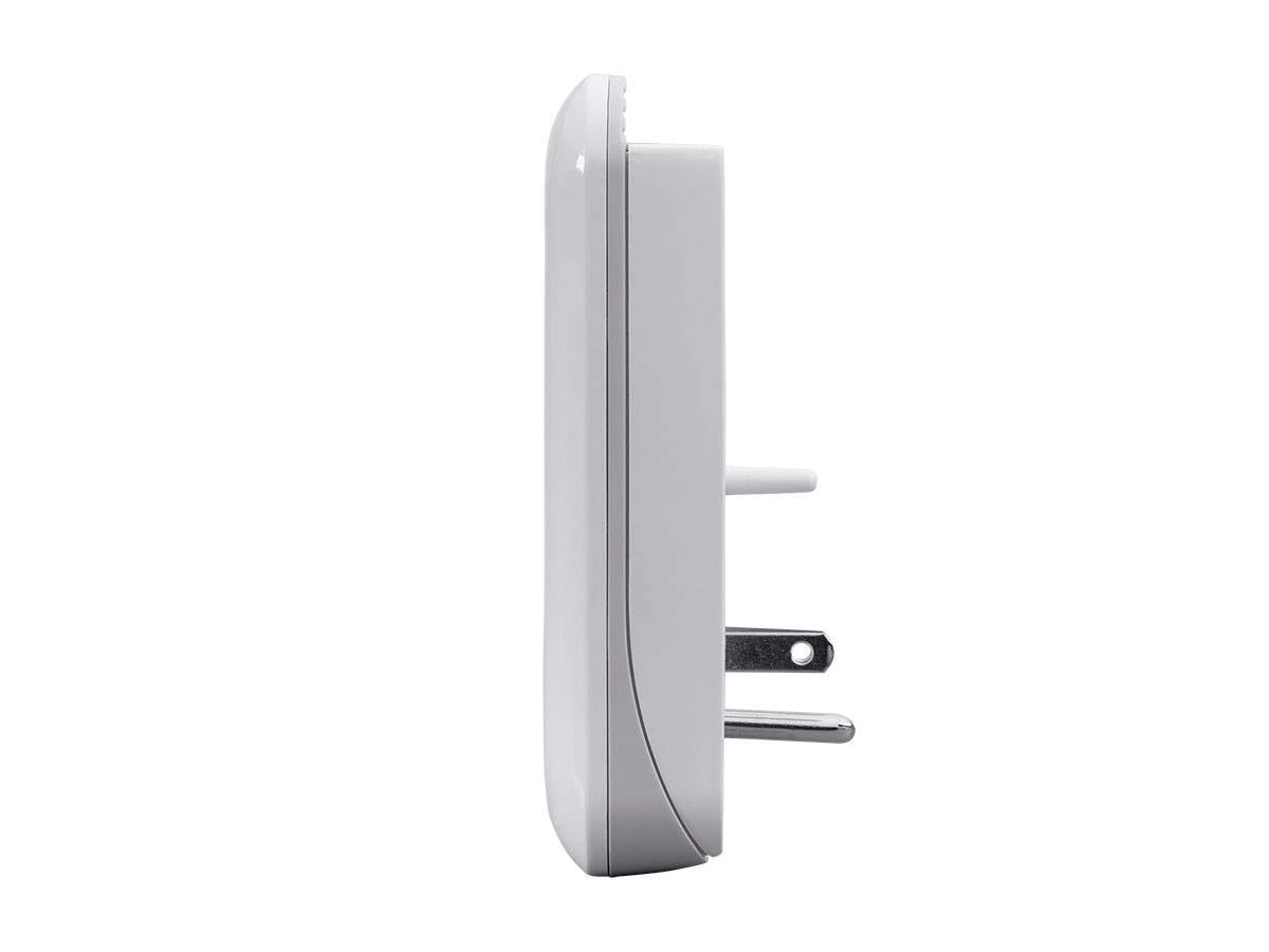White ETL Rated 950 Joules with Grounded and Protected Light Indicator Monoprice 3 Outlet Power Surge Protector Wall Tap with 2 Built in 3.4A USB Charging Ports