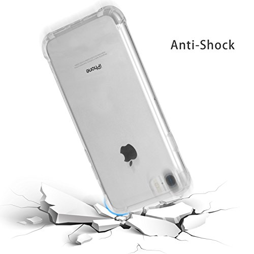 iPhone 7 Case,Easylife Case ammortizzante per protezione da urti ad alta intensit¨¤ in TPU sottile e trasparente per iPhone 7 ¨C Bianco.